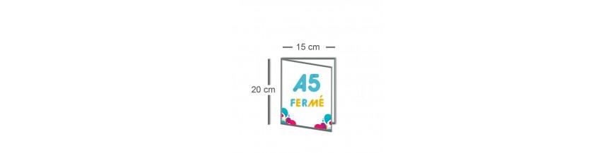 Dépliant A5 fermé (15x20cm) / A4 ouvert (30x20cm)
