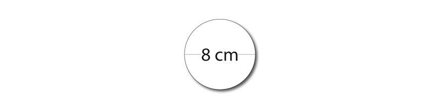 Sticker rond 8cm