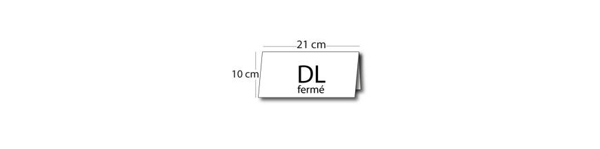Calendrier DL fermé (21x10cm) / 21x20cm ouvert