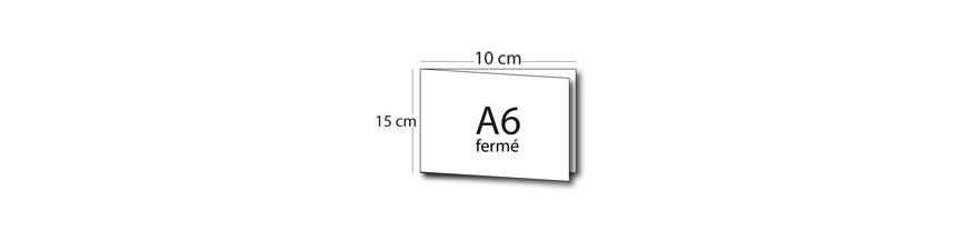 Carte de voeux double volet A6 (15x10cm) / 30x10cm